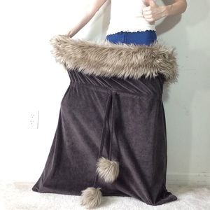 HUGE Brown Furry Clothing Bag